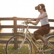 niña realidad virtual