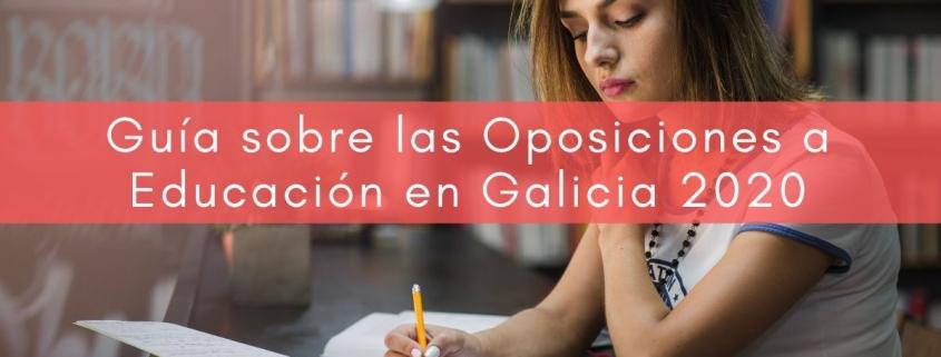 preparador oposiciones educación 2020 Galicia