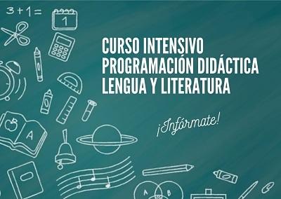 Curso intensivo de programación didáctica para la oposición de lengua y literatura