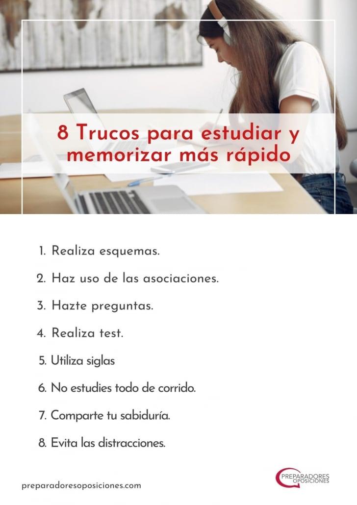 Trucos para estudiar rápido.