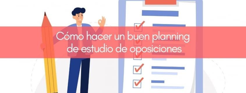 Cómo hacer un planificador de estudio de oposiciones